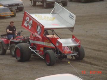 Arkansas Auto Racing on Sonny Sayre From Proctor  Arkansas Getting Ready To Hotlap