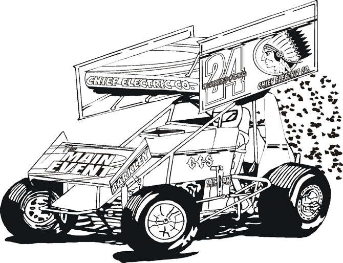 Coloring Book Pages Sonny Sayre Sprint Car Kidz Korner