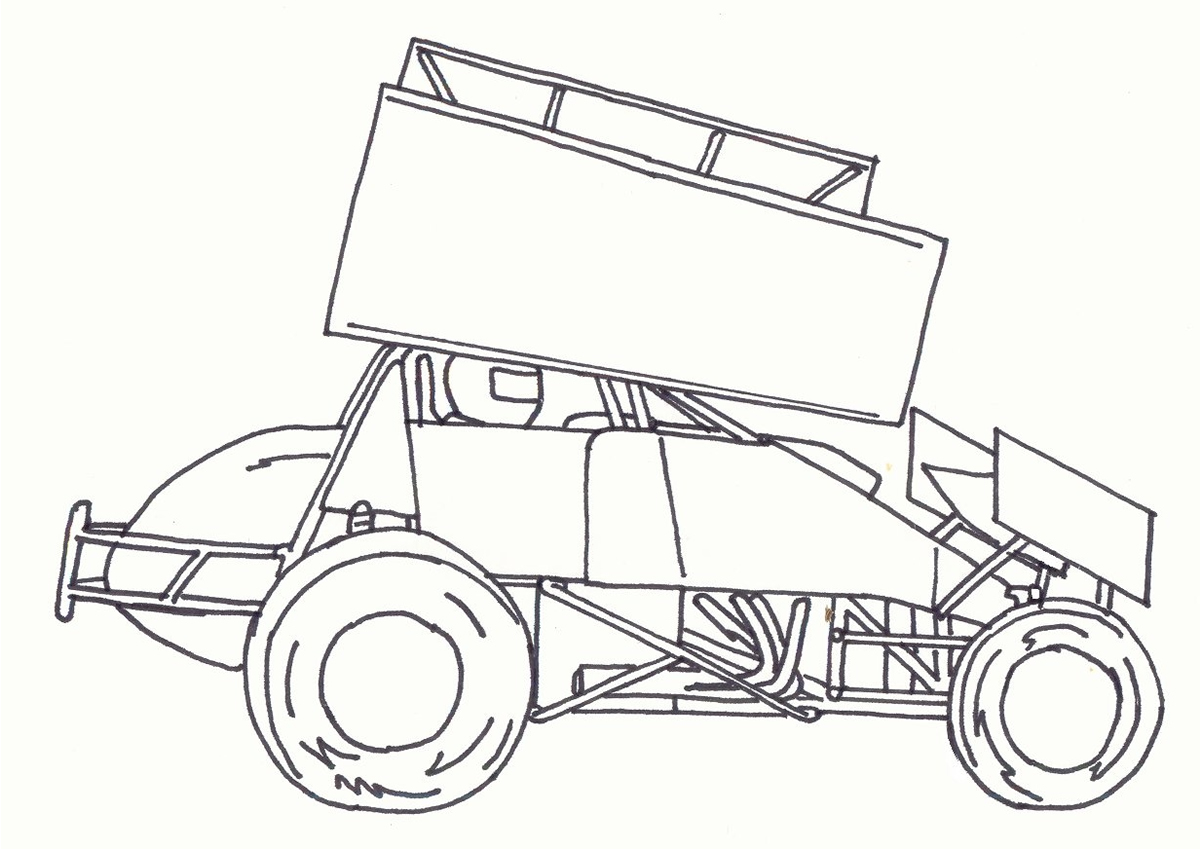 Uncategorized Sprint Car Coloring Pages kidz korner sprint car 2